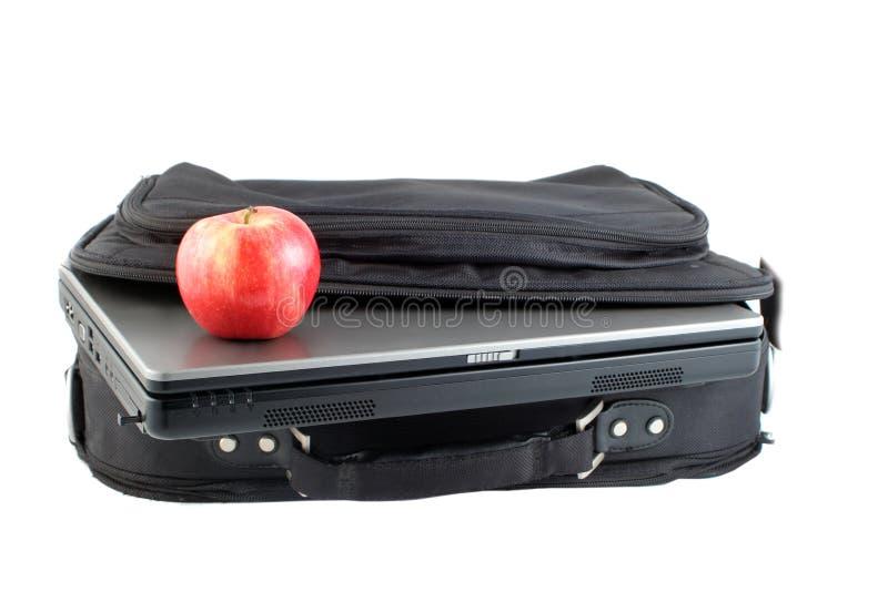 Laptod e caixa isolados foto de stock royalty free