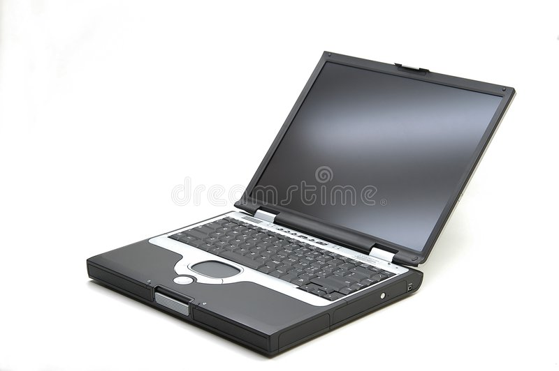 Laptop. PC over white background