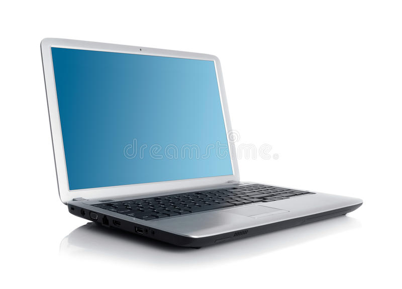 Laptop. Open laptop isolated on white
