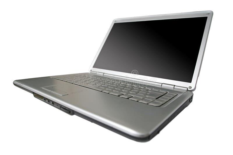 Laptop. Black and silver laptop computer stock photos