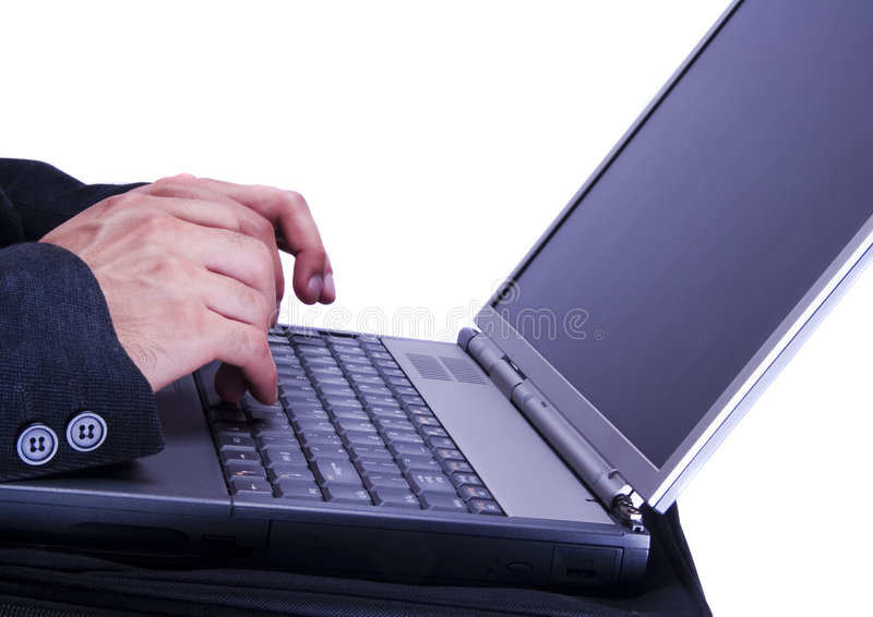 Laptop. Business time is money time stock photo