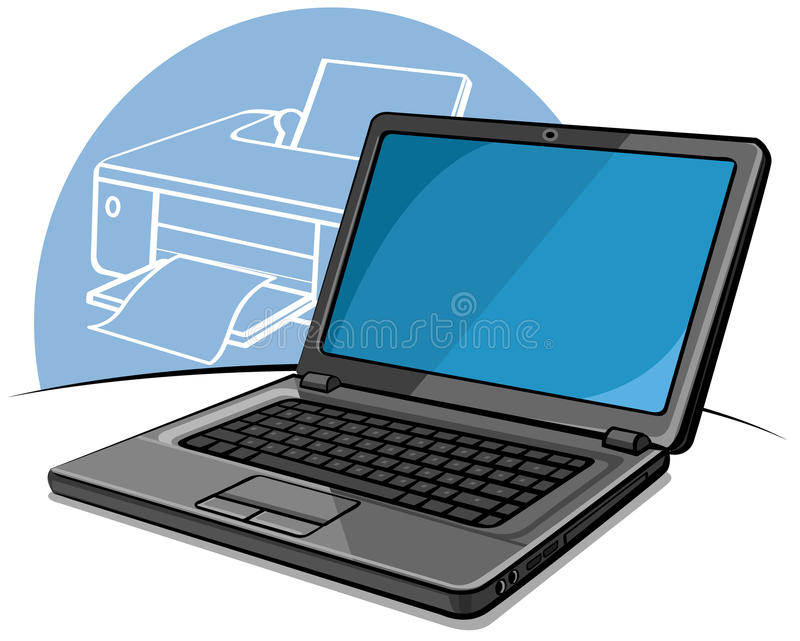 Download Laptop stock vector. Image of office, keyboard, computer - 23889371