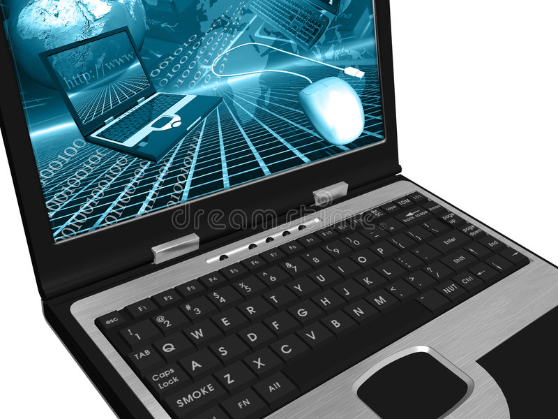 Download Laptop stock illustration. Image of technology, video - 2649791