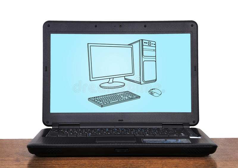 Download Laptop stock image. Image of front, blank, nobody, advertisement - 28203365