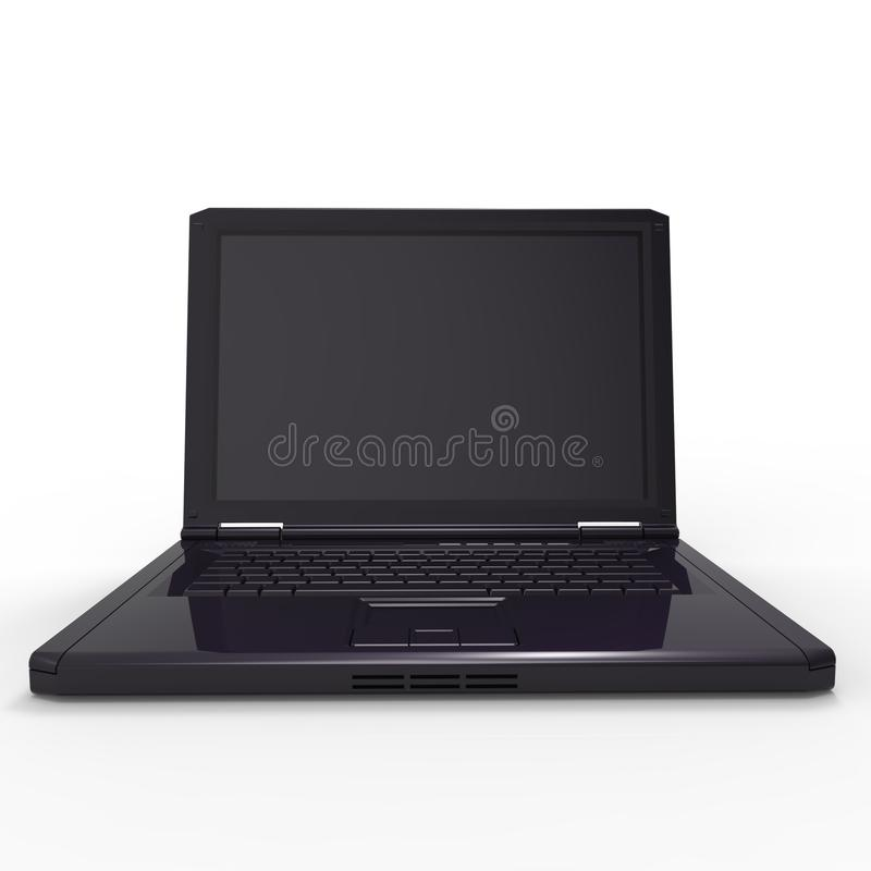 Download Laptop stock illustration. Image of pliable, isolated - 28858401