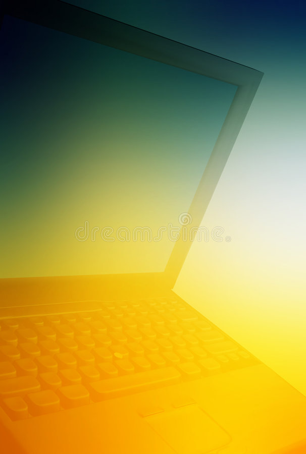 Laptop stock illustration
