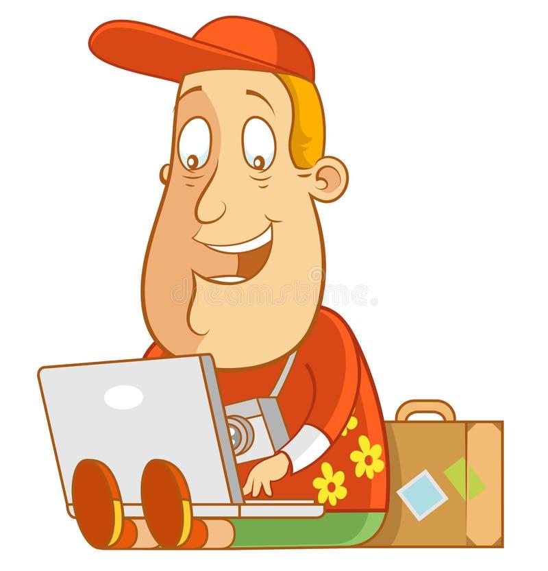 Laptop ilustración del vector