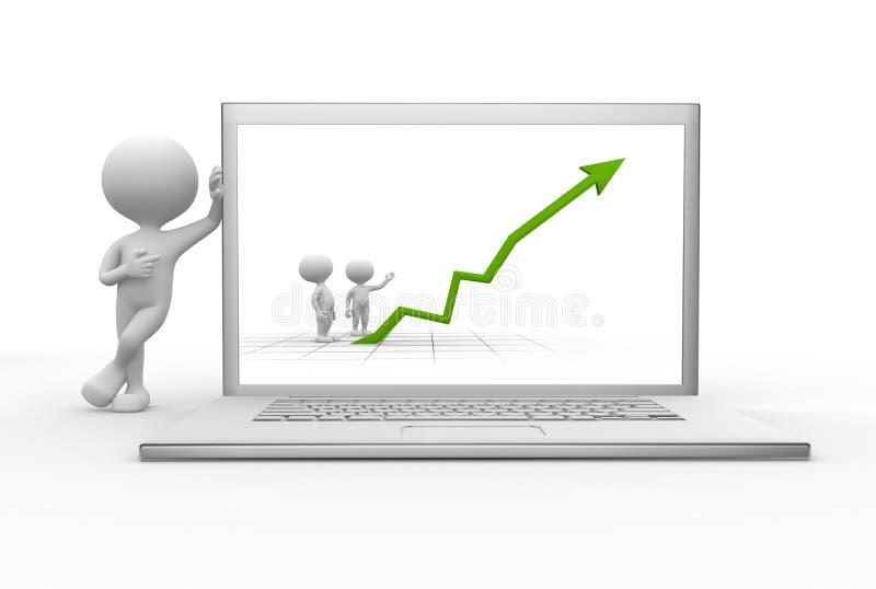 Laptop stock de ilustración