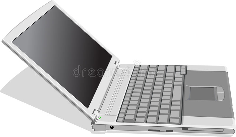 Download Laptop stock vector. Image of mobile, equipment, human - 5226832