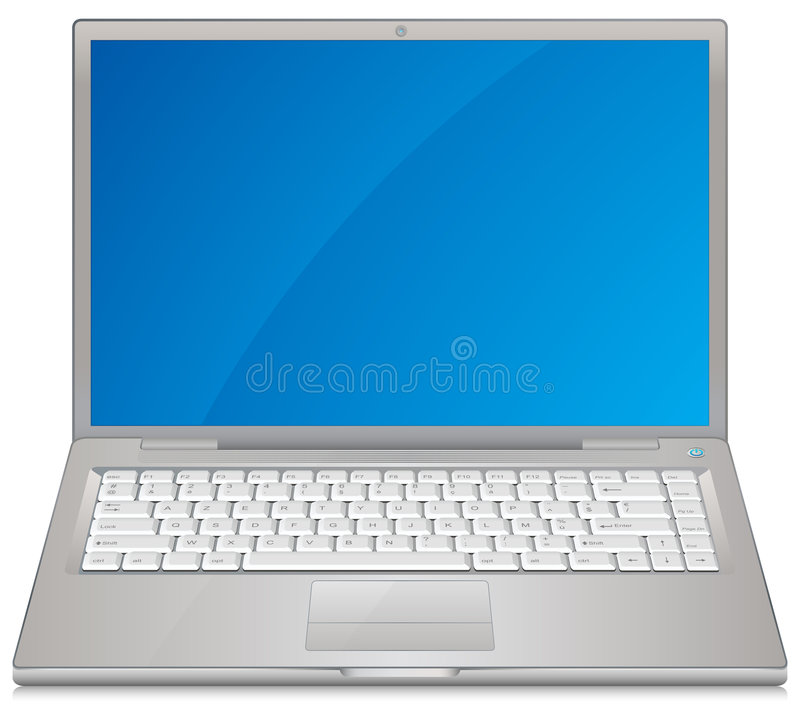Laptop. Computer with highly detailed keyboard