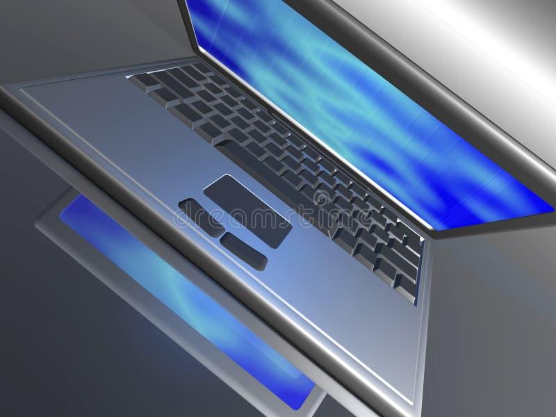 Laptop royalty-vrije illustratie