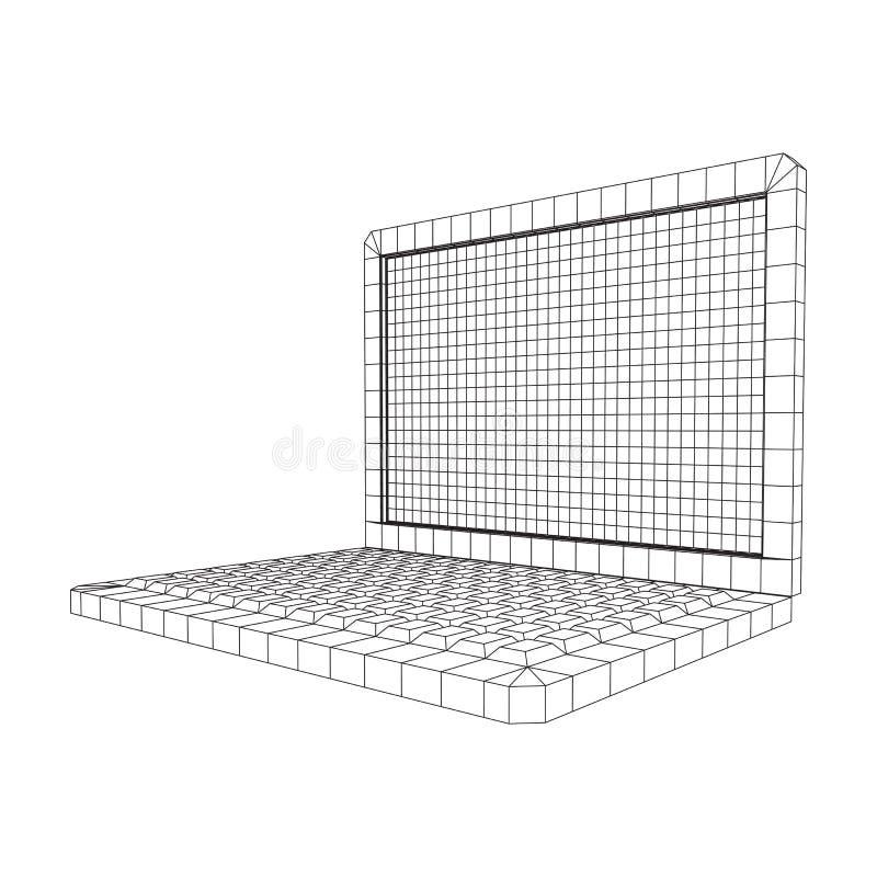 Laptop AbstractNet Background Vector stock illustratie