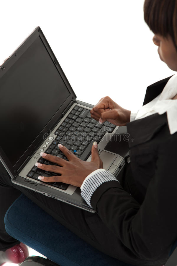 Laptop anger royalty free stock photo