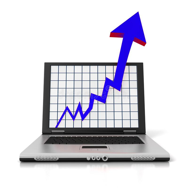 Laptop Arrow royalty free stock images