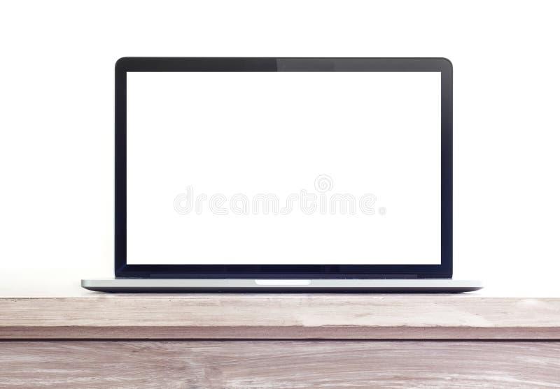 Laptop auf dem Schreibtisch stockbild