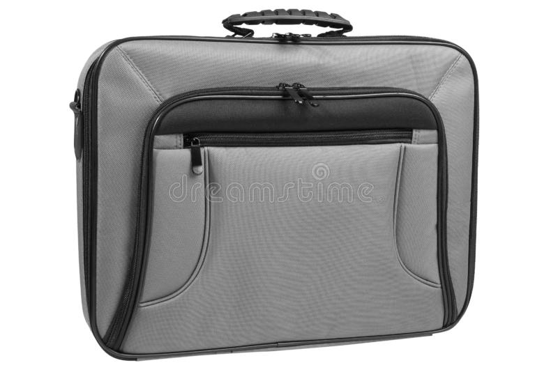 Modern laptop bag stock photos