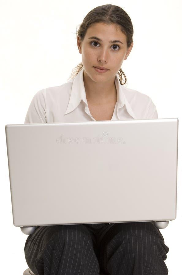 Laptop-Benutzer lizenzfreie stockfotos