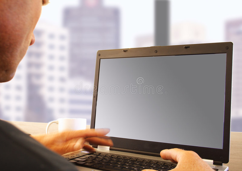 laptop biznes fotografia stock