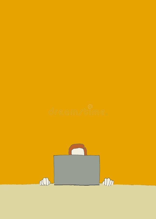 laptop biznesmena ilustracja wektor