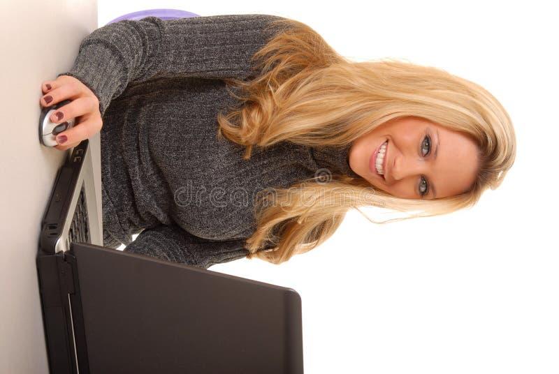 Laptop Blond stock photography