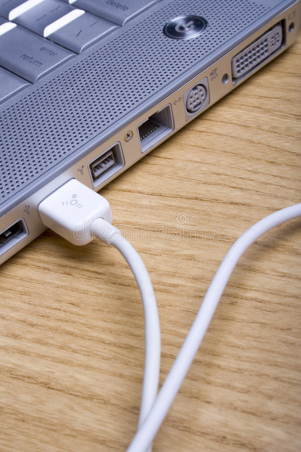 laptop cable obrazy stock