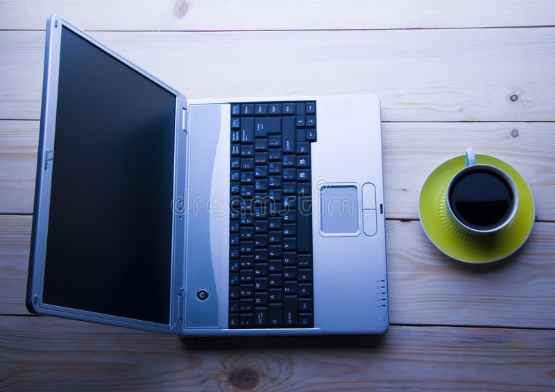 Download Laptop & Cafe stock photo. Image of cafe, computer, background - 2309704