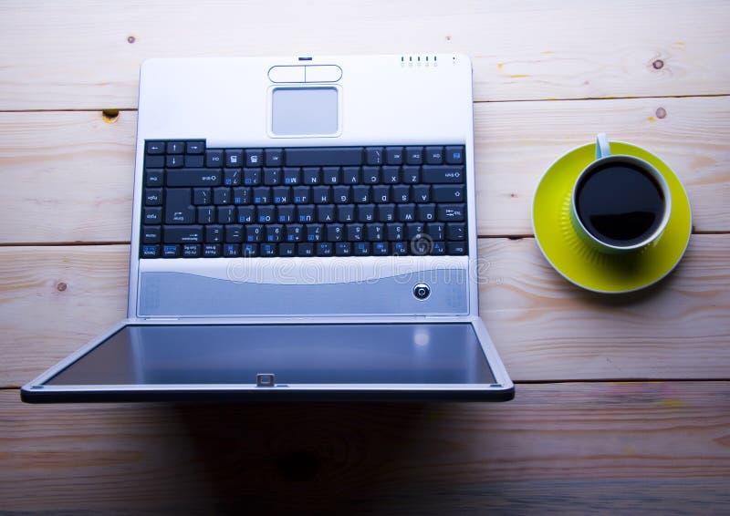 Download Laptop & Cafe Royalty Free Stock Image - Image: 2309706
