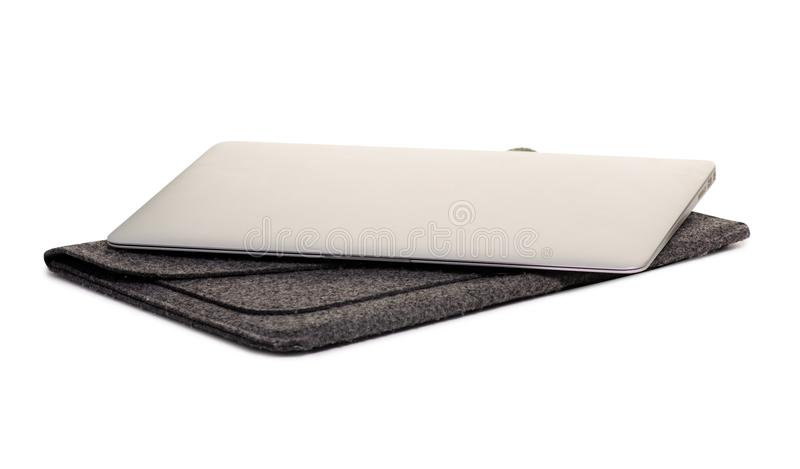 Laptop and case stock images