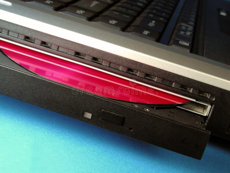 Laptop CD bestuurder stock afbeeldingen