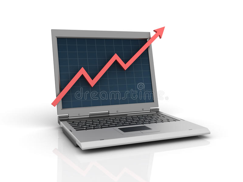 Laptop Chart vector illustration