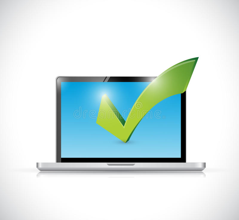 Download Laptop And Checkmark Illustration Design Stock Illustration - Illustration of portable, mobile: 39508992
