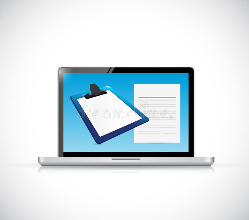 Download Laptop And Clipboard Illustration Design Stock Illustration - Illustration of grey, notebook: 39509014