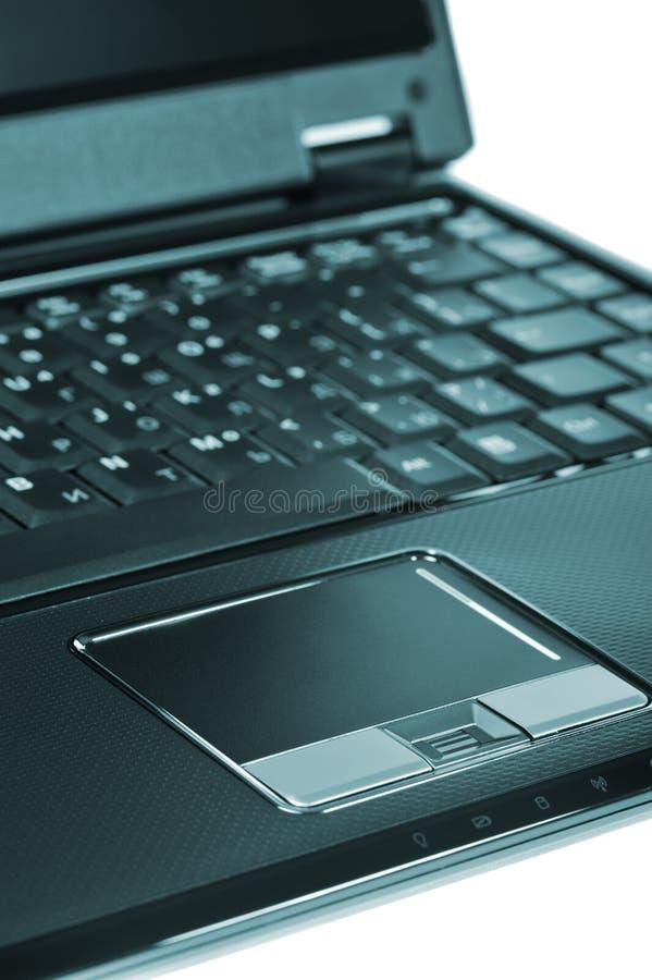 Laptop closeup. Laptop. A portable computer isolated photo closeup royalty free stock image