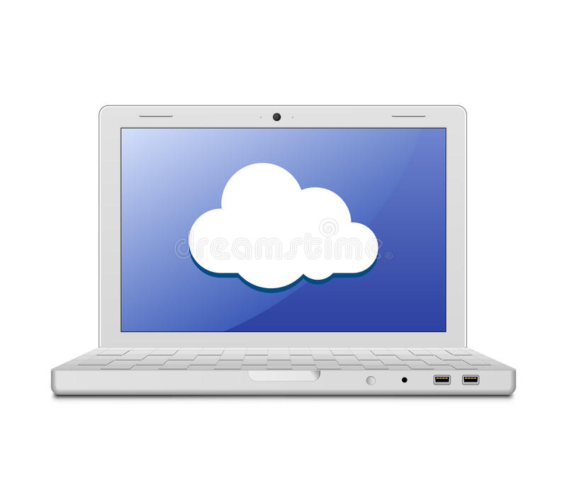 Download Laptop And Cloud Computing Sign Stock Vector - Image: 25254299