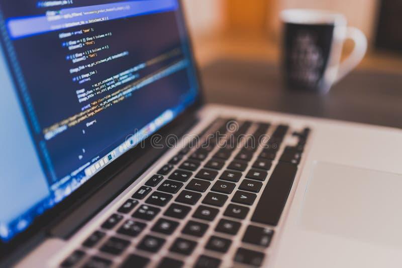 Laptop With Code Free Public Domain Cc0 Image