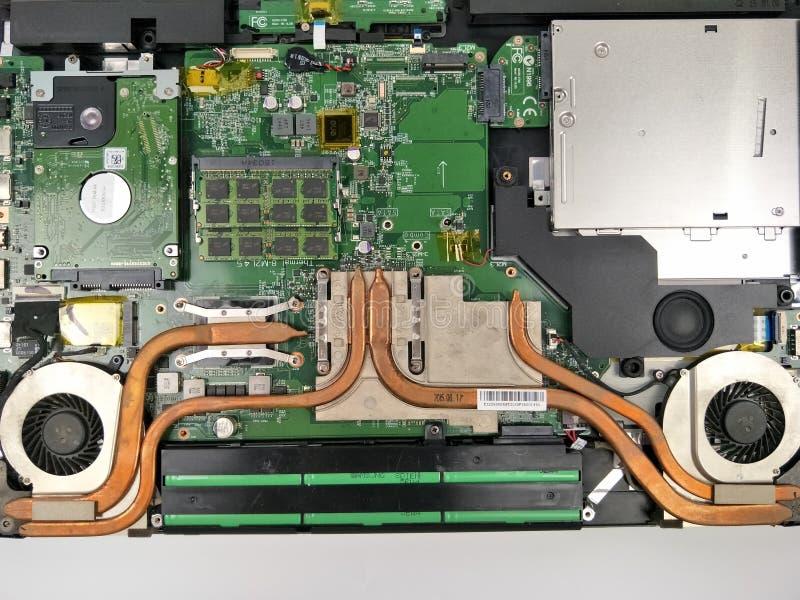 Laptop component dissambly royalty-vrije stock foto's