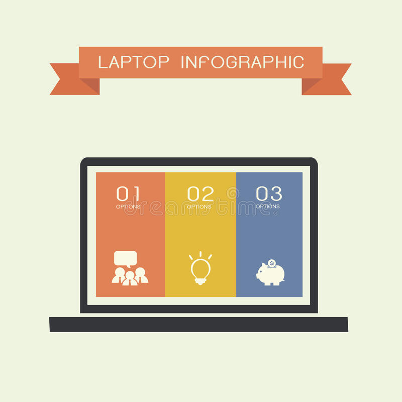 Download Laptop compute stock vector. Image of internet, board - 33024917