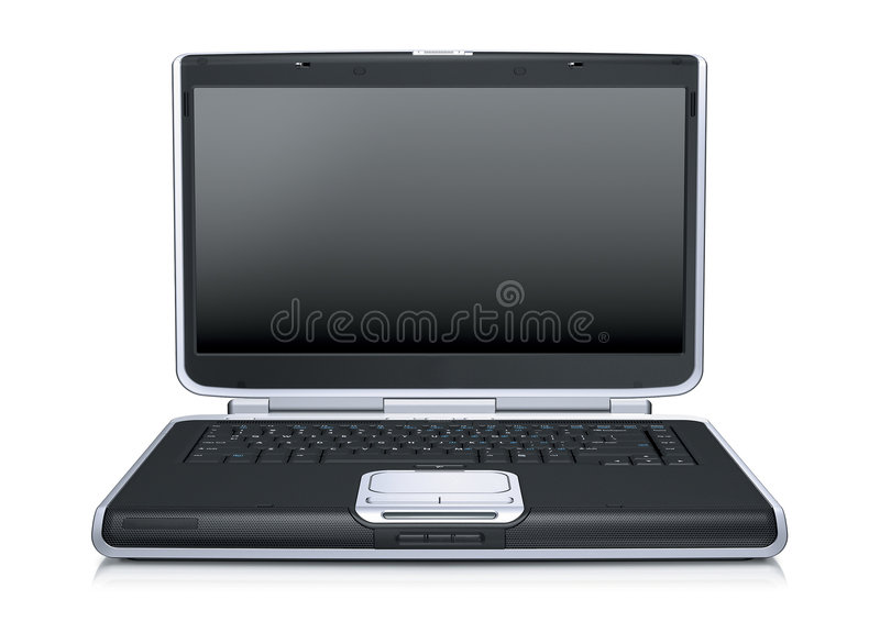 Laptop computer. Modern laptop computer over a white background