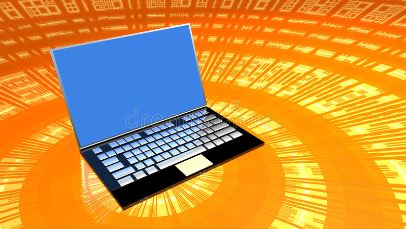 Download Laptop Computer stock illustration. Image of color, mobile - 2508003