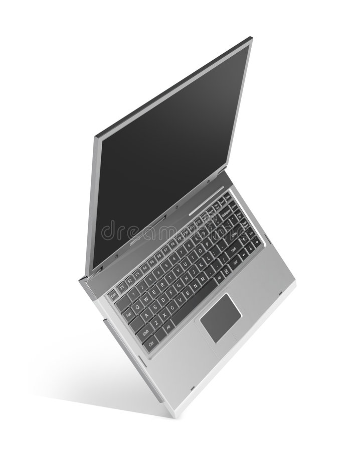 Laptop computer royalty free illustration