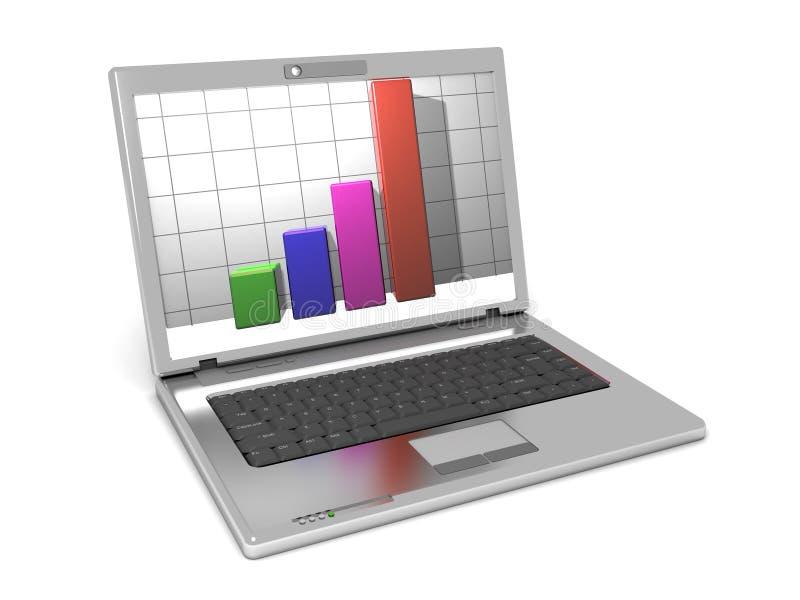Laptop-Computer lizenzfreie abbildung