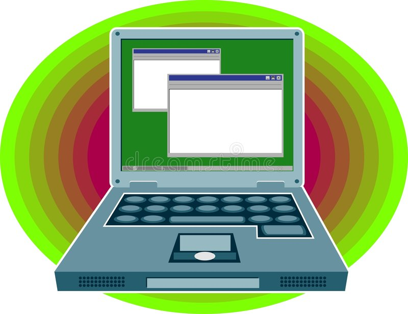 Laptop Computer vector illustratie