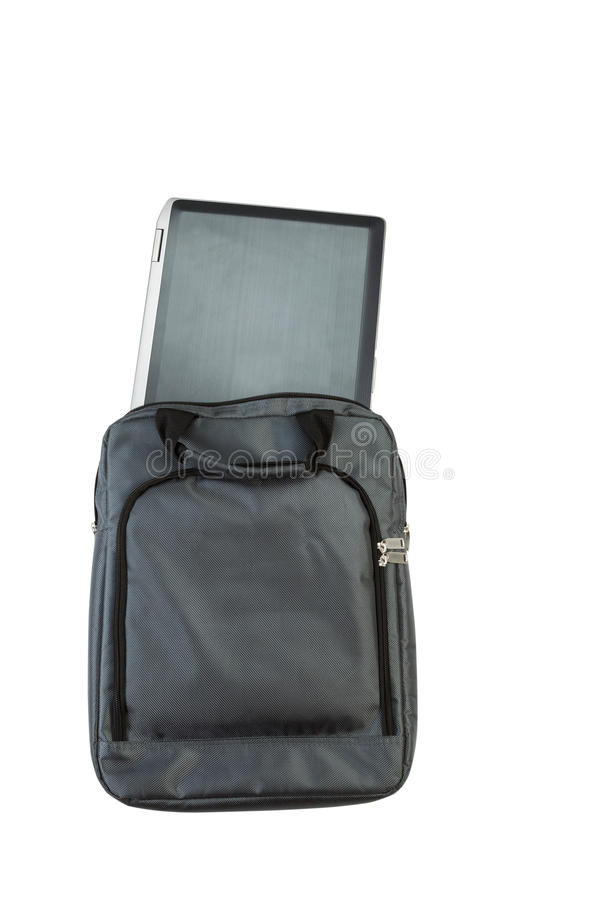 Download Laptop Computer And Carry Case On White Stock Photo - Image: 41766324