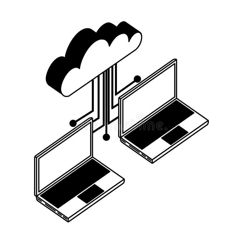 circuit symbol isolated icon stock vector