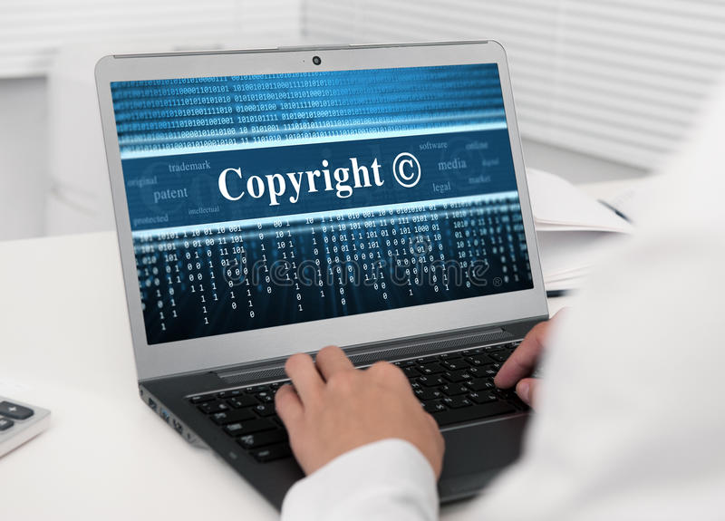Download Laptop Computer With Copyright Message Royalty Free Stock Images - Image: 33567859