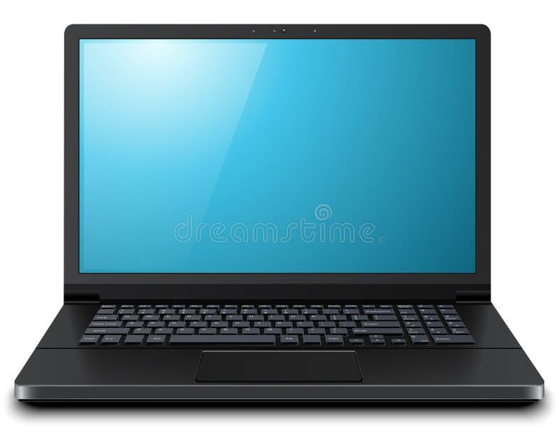 Laptop computer 3D. Laptop, modern computer 3D, vector illustration royalty free illustration