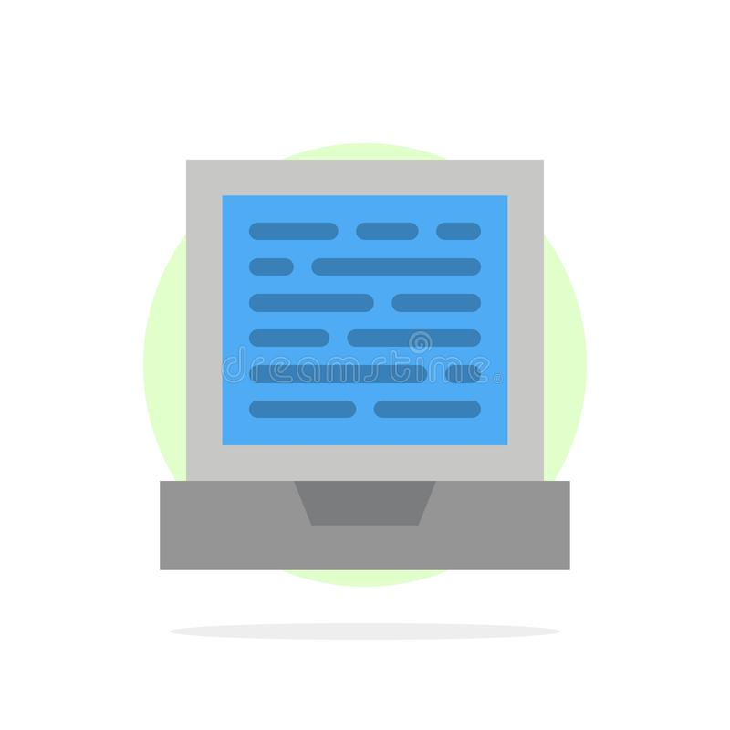 Laptop, Computer, Design Abstract Circle Background Flat color Icon stock illustration