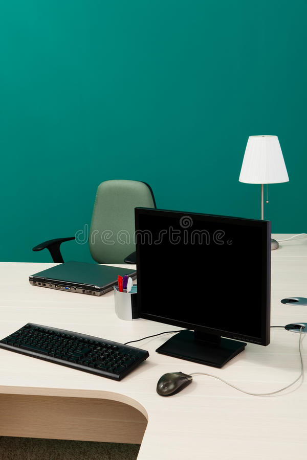 Download Laptop And Computer On A Desk Stock Images - Image: 21021974