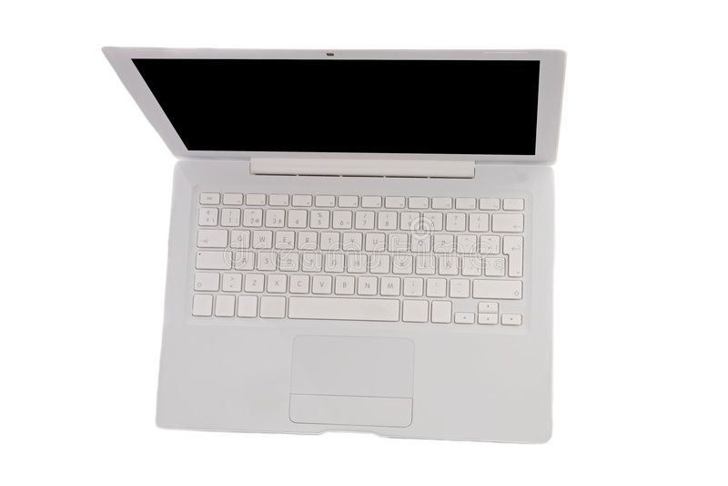 Laptop computer hierboven wordt bekeken die van royalty-vrije stock foto's