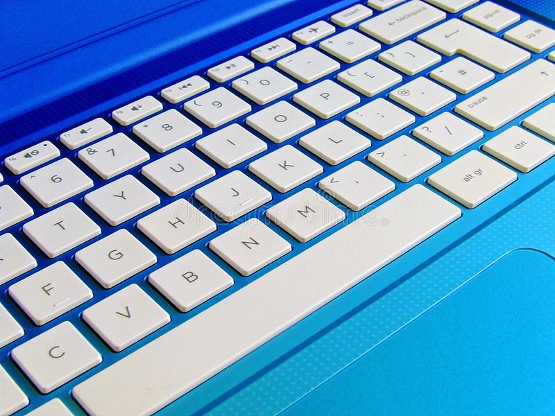 Laptop computer keyboard royalty free stock photo